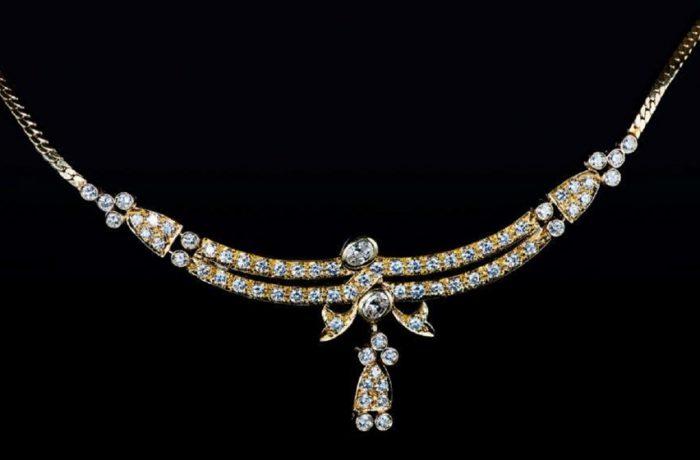 Collier 750er Gelbgold 71 Diamanten