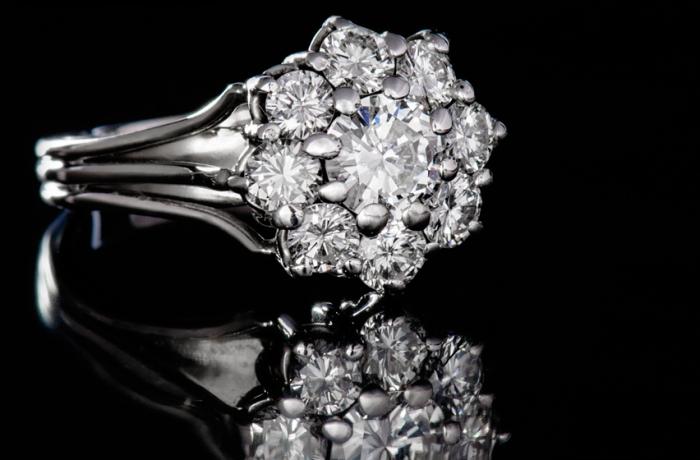 Ring Weißgold 585 mit Diamanten