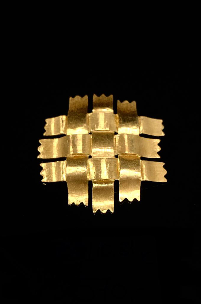 (VERKAUFT) Brosche 750er Gelbgold