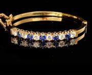 Armreif 750er Gelbgold mit 6 Diamanten