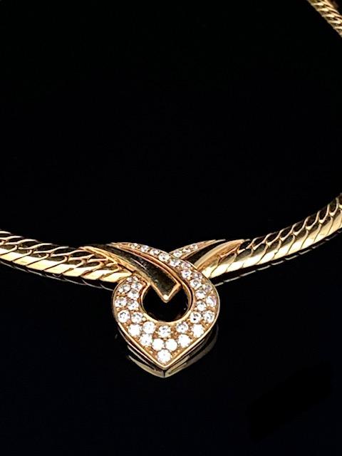Collier 750er Gelbgold mit Diamanten