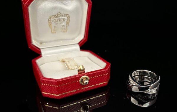 Ring Weißgold Cartier mit Diamanten